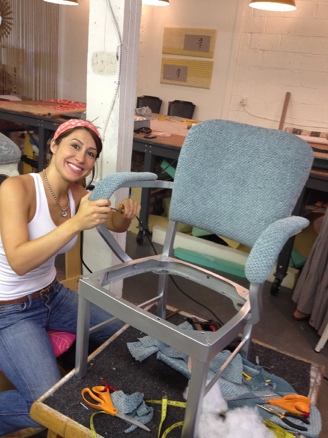 Upholstery Student