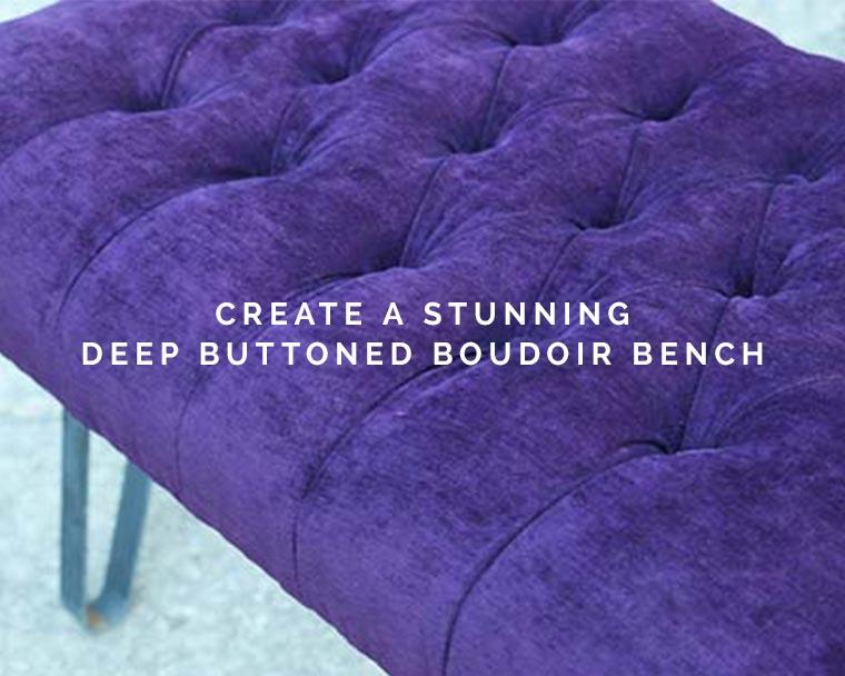 Create a Deep Buttoned Boudoir Bench