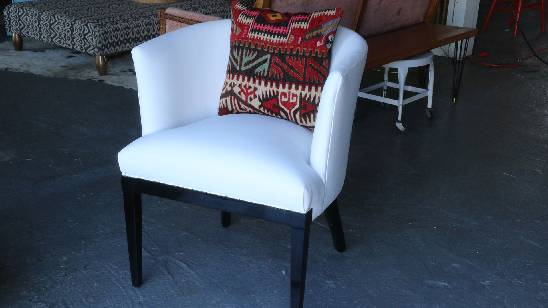 Reupholstered Modern Chair