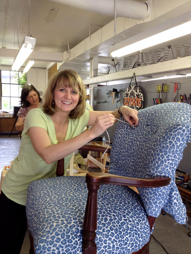 Upholstery Bootcamp Class Student